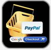 Shopping cart lets your customer buy via Paypal or Google Checkout